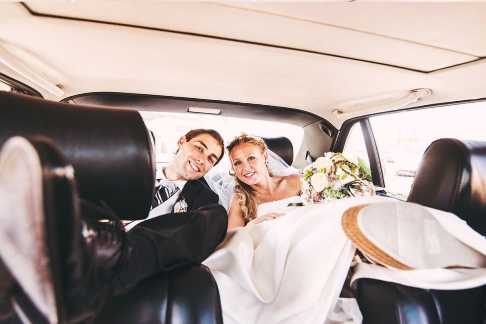 Wedding photographers in Mallorca car