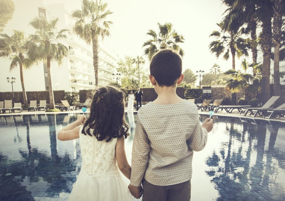 """ALT""""Wedding photographer Mallorca pool"""