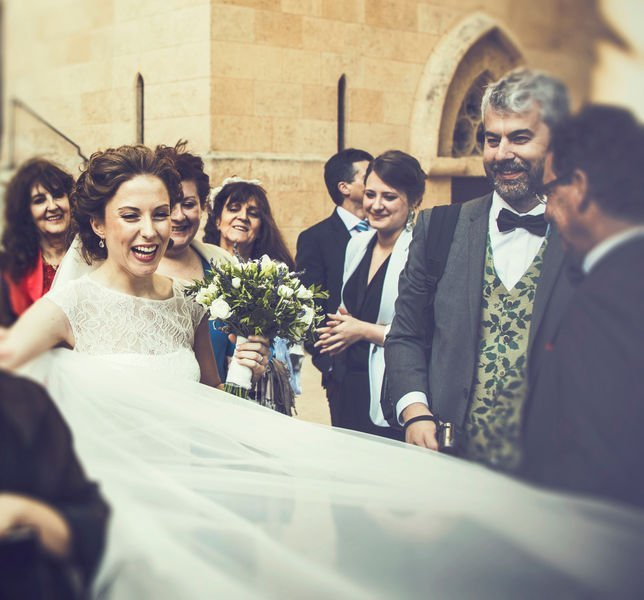 """ALT""""Wedding photographer Mallorca church bride"""