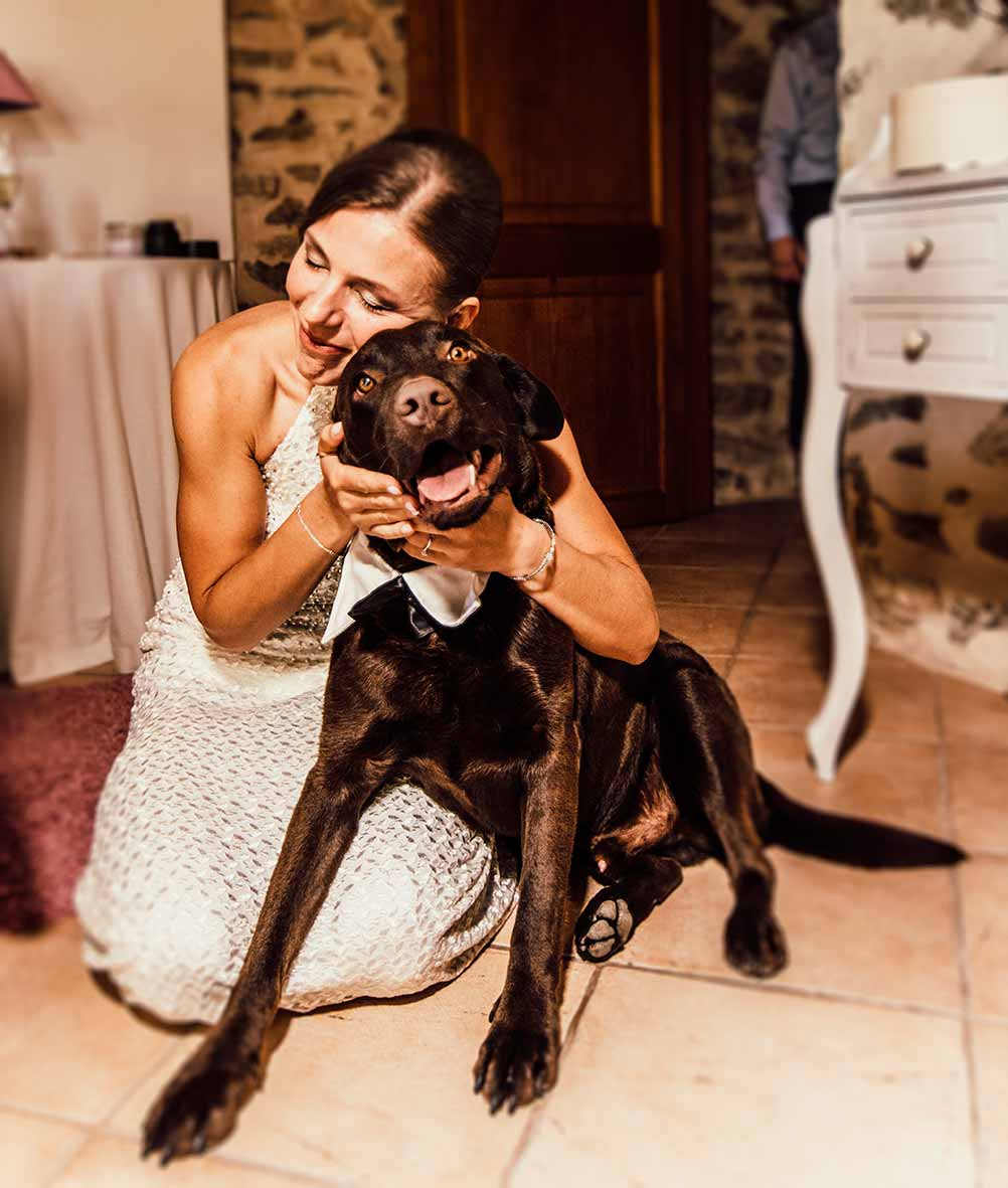 wedding photographer in Mallorca dog