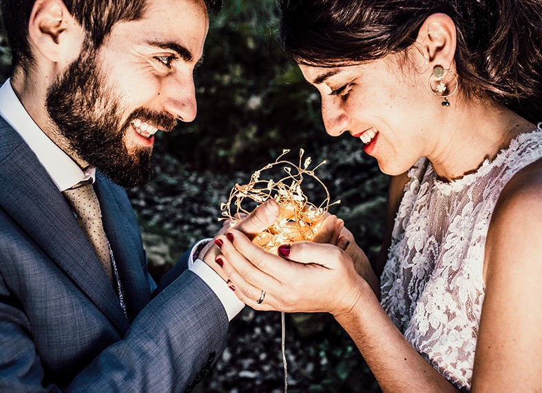 postwedding photographer mallorca sweet lights