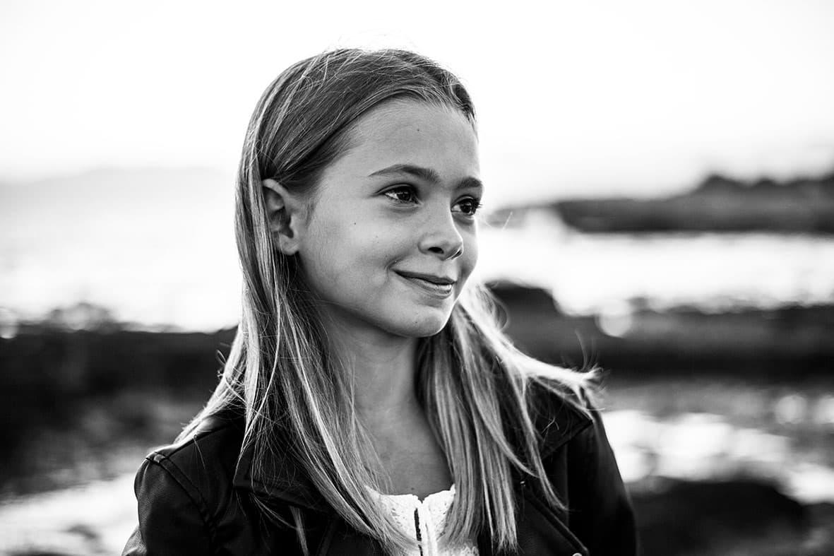 photo shoot in Mallorca black and white