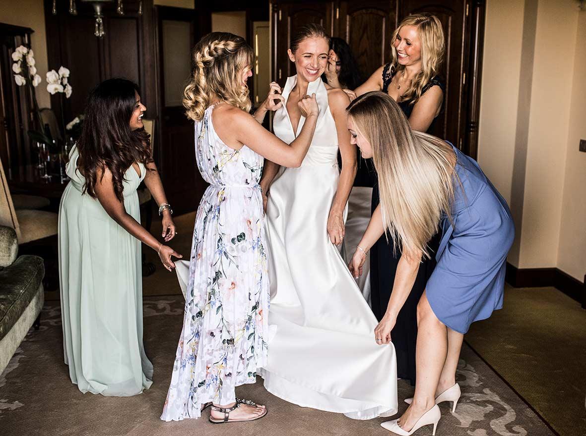 boda en castillo hotel son vida bridesmaids