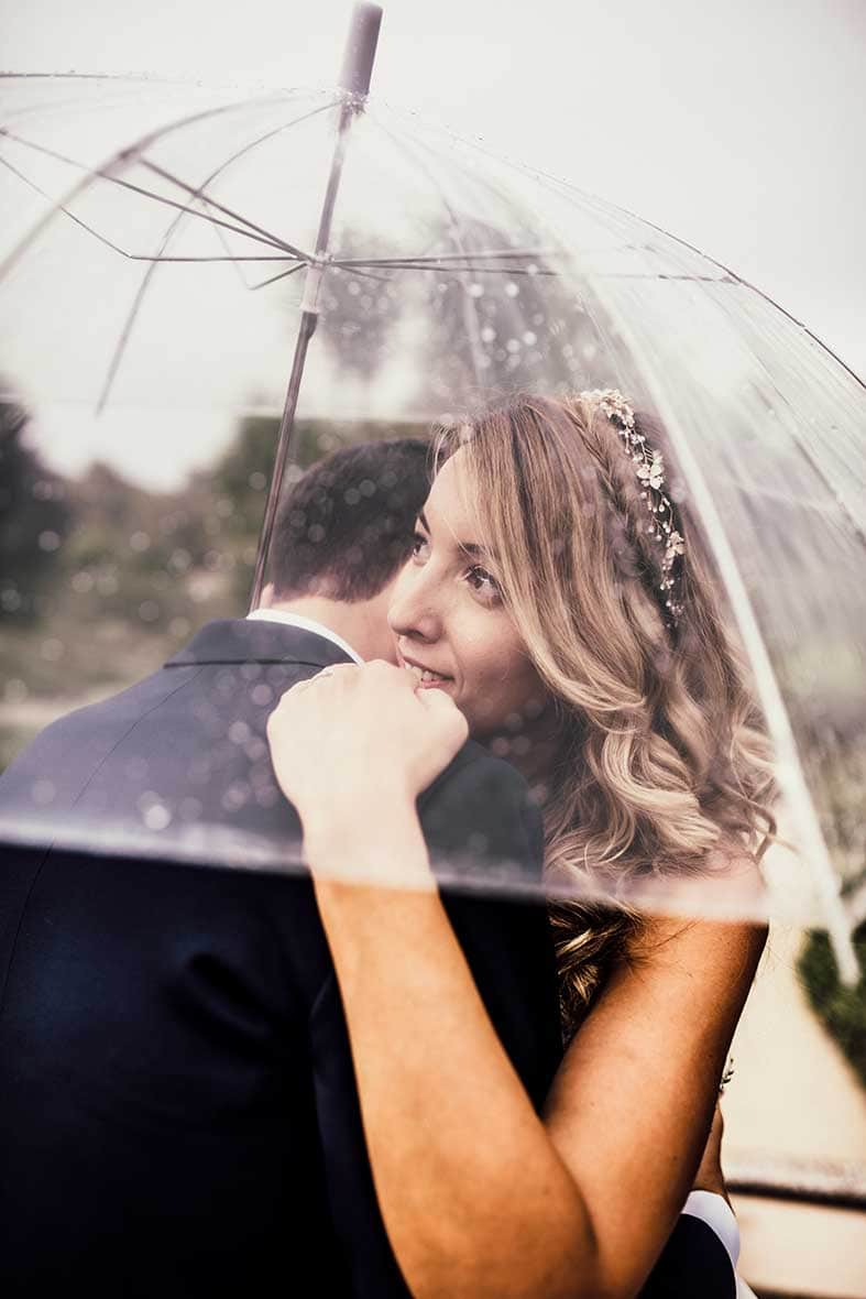 postwedding session umbrella