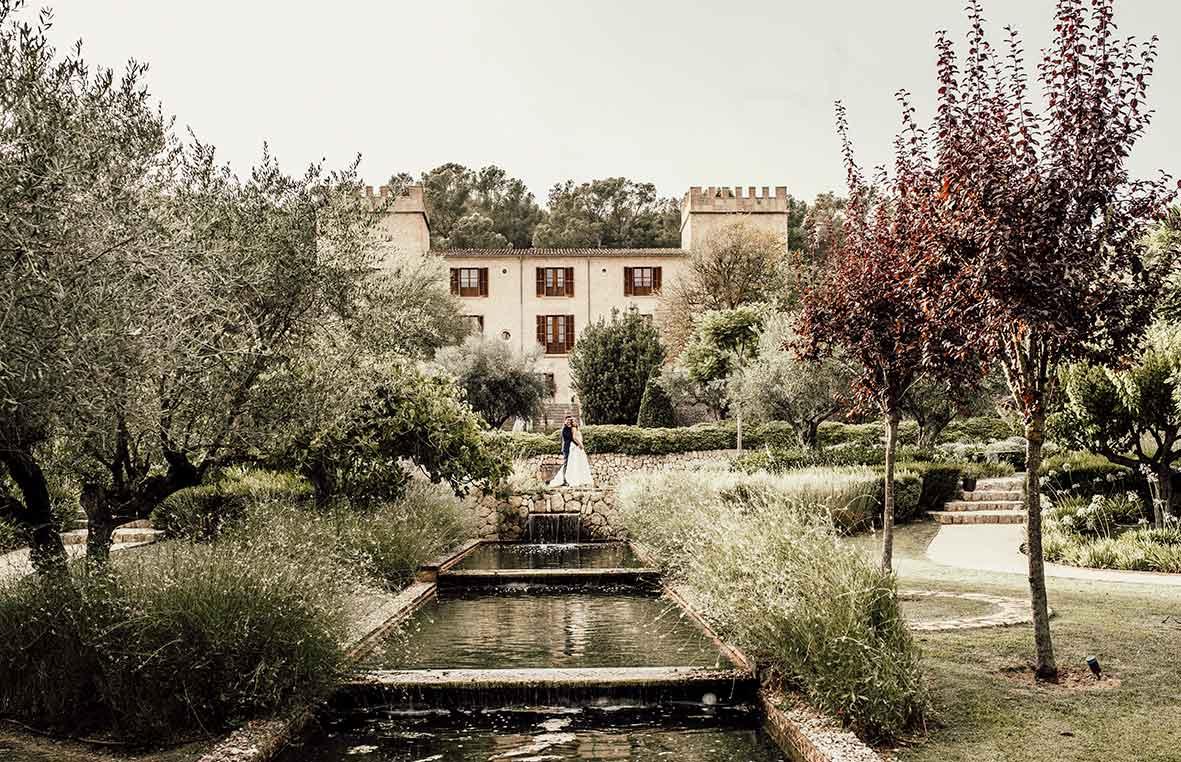 sesión de postboda mallorca hotel Castell Son Claret