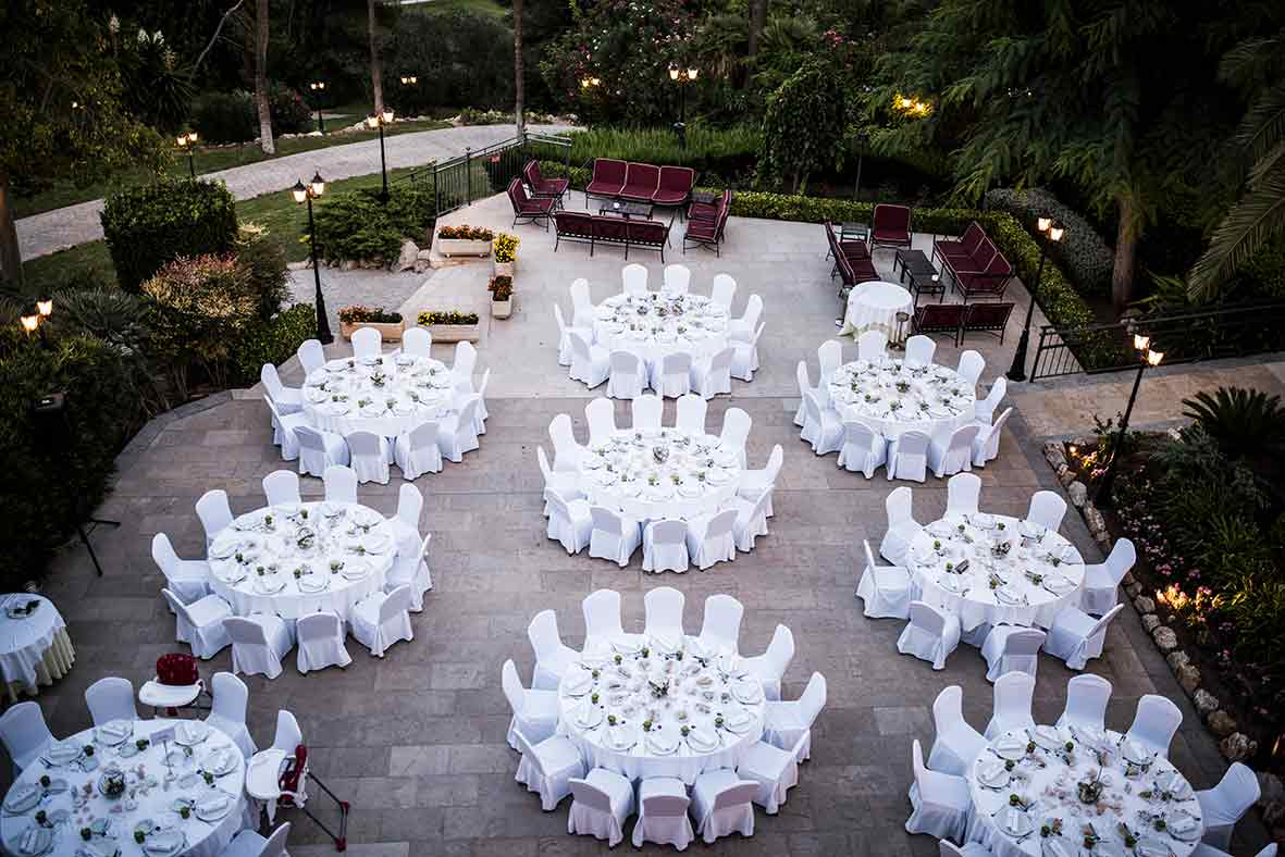 wedding in castillohotel son vida tables