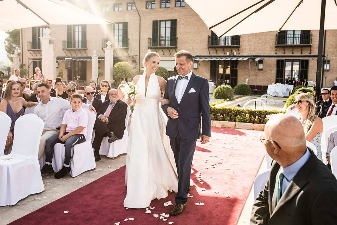 wedding in castillo hotel son vida ceremony