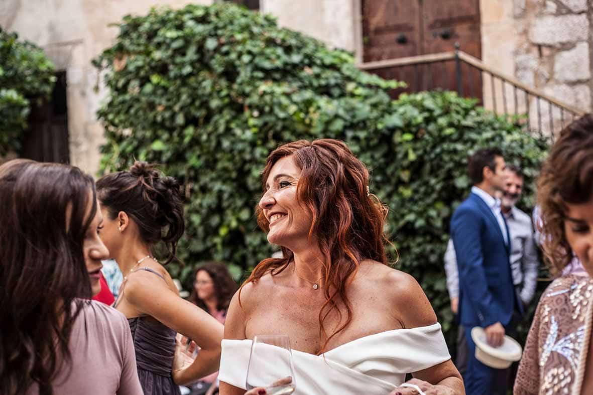 """ALT""reportaje de boda en mallorca novia feliz"