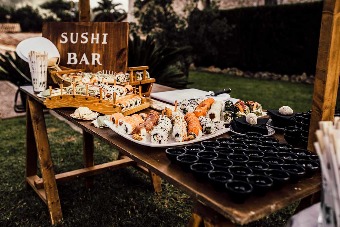 """ALT""wedding reportage inmallorca sushi station"