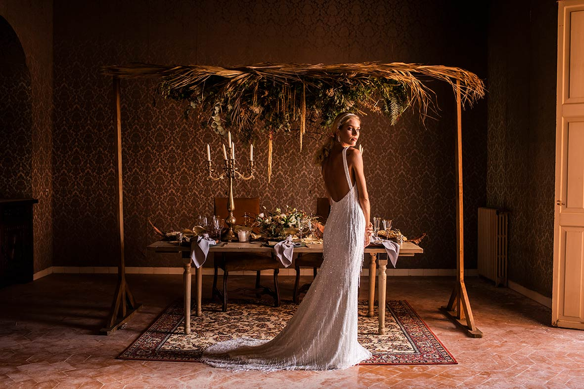 """""""ALT""""sustainable editorial in mallorca bridal table and model"""""""