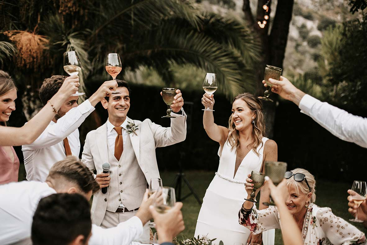 """ALT""fotógrafo de boda finca comassema brindis banquete"""
